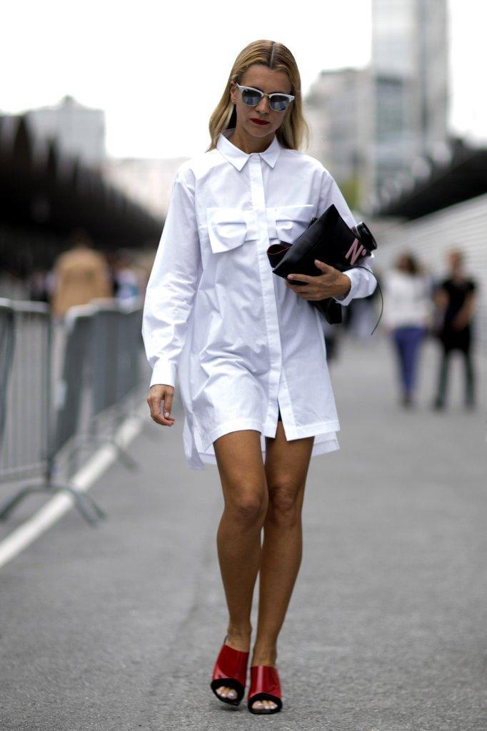 Белые платья рубашки фото