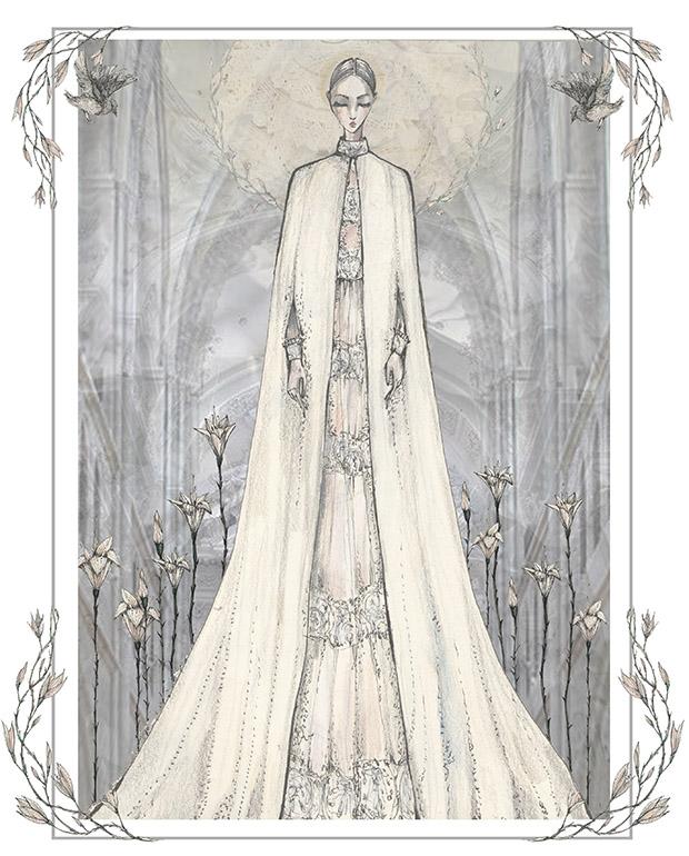 valentino haute couture cape