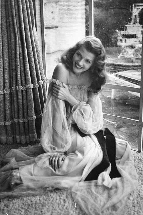 Rita Hayworth on the set of Gilda, 1946