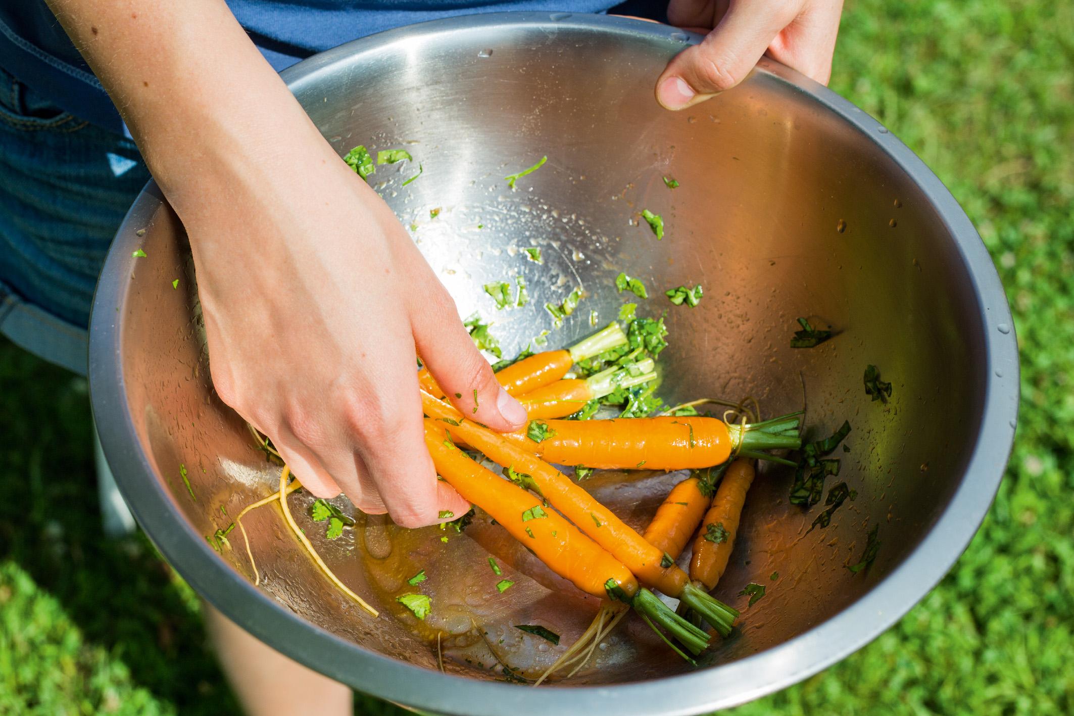 Пряная морковь на гриле 2