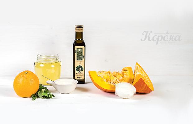 Авторские рецепты от «Короны»: тыквенный крем-суп с апельсином