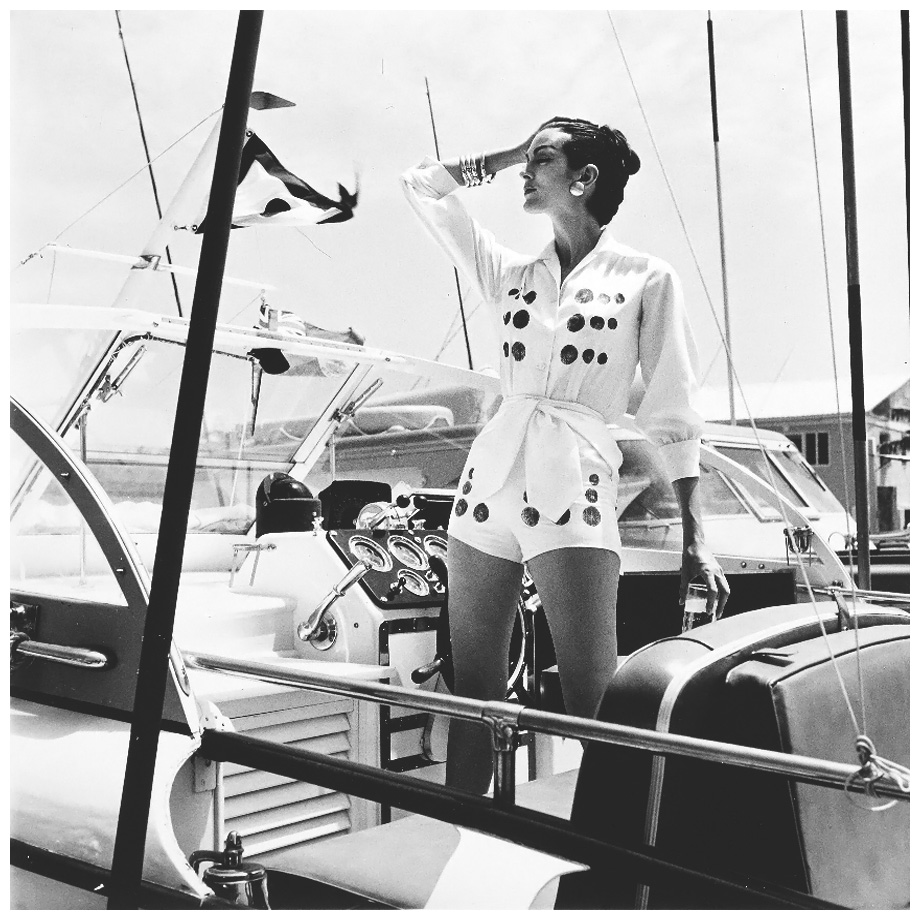 British Vogue Magazine, July 1959 Norman Parkinson In The Bahamas, Carmen Dell'Orifice