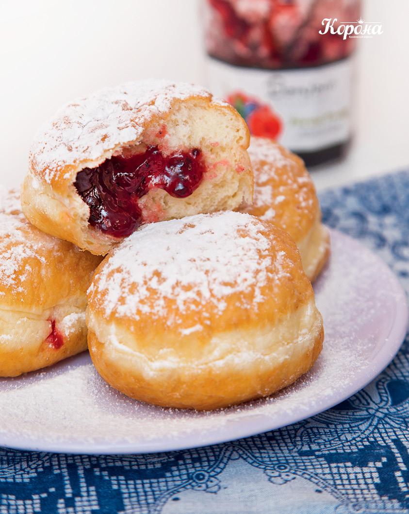 общее фото_Пончики с джемом из лесных ягод