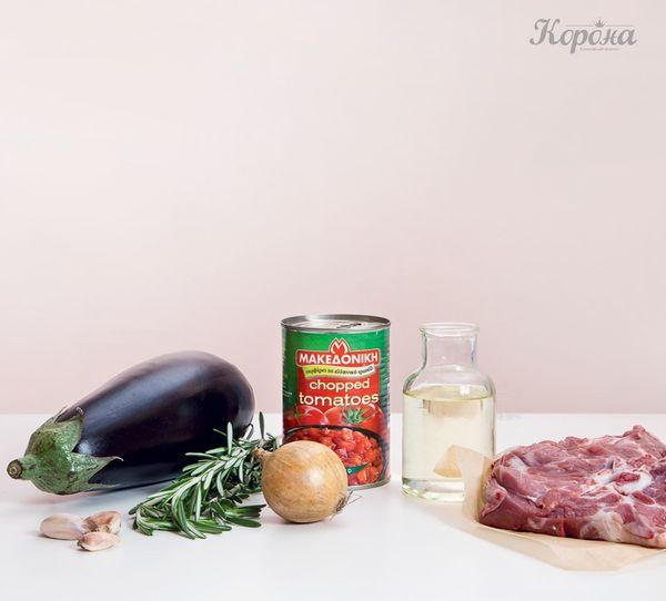 ингредиенты Баранина с гарниром из баклажанов