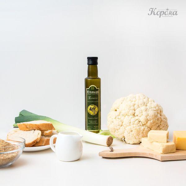 ингредиенты Цветная капуста и порей под сырной корочкой