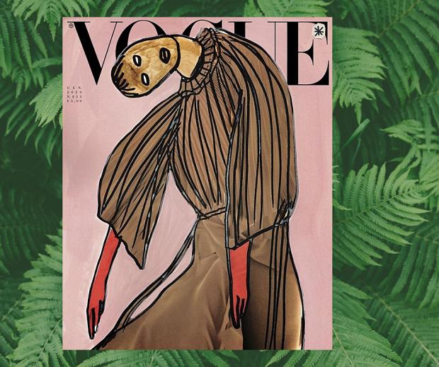 Vogue Italia впервые вышел без фото — только рисунки